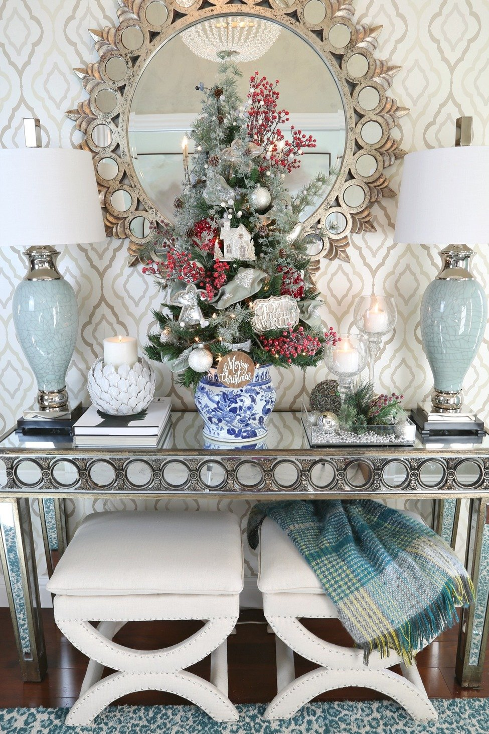 Entryway Tabletop Christmas Tree.