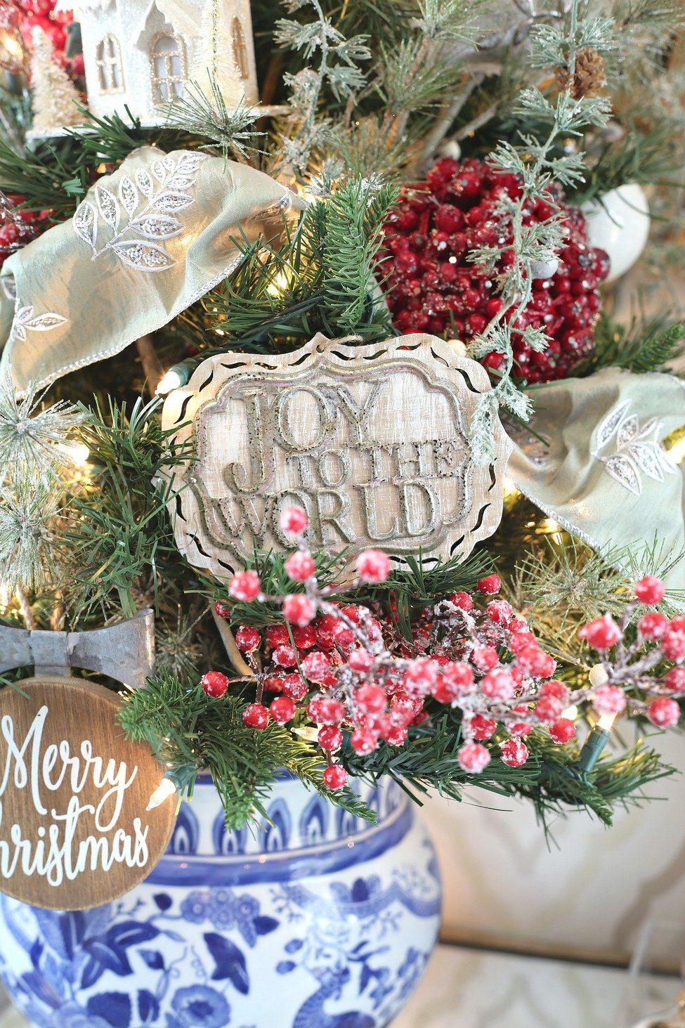 Joy to the World Wood and Metal Ornament from Kirkland's.
