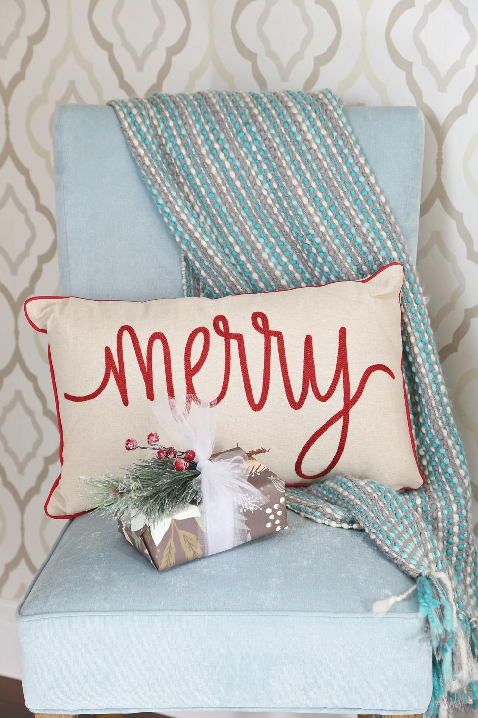 Merry pillow from Kirkland's