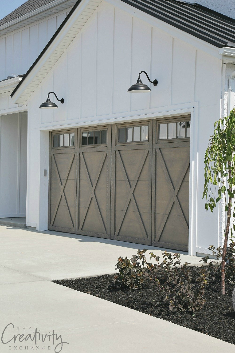 Modern Farmhouse Exterior Garage Close Up