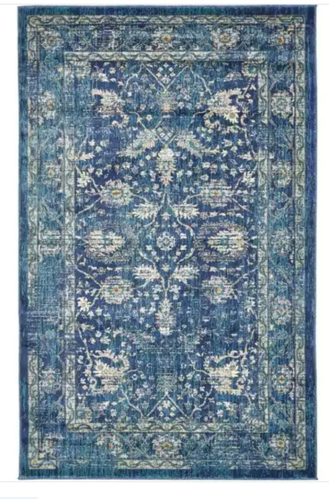 Turkish Navy Rug from Overstock