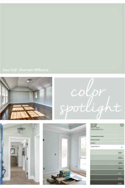 Sherwin Williams Sea Salt. Color Spotlight.