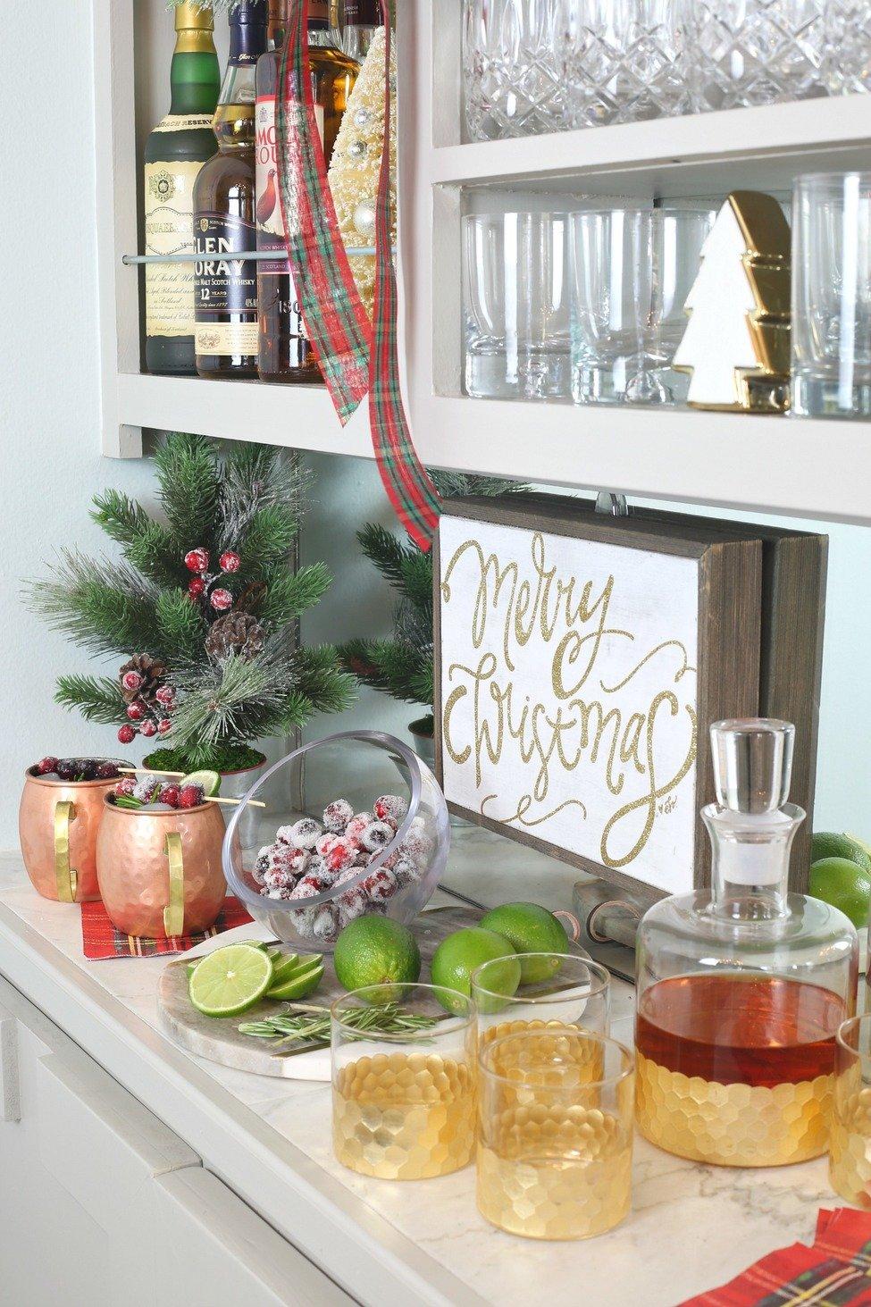 Stocked Holiday Bar. Barware from Kirkland's