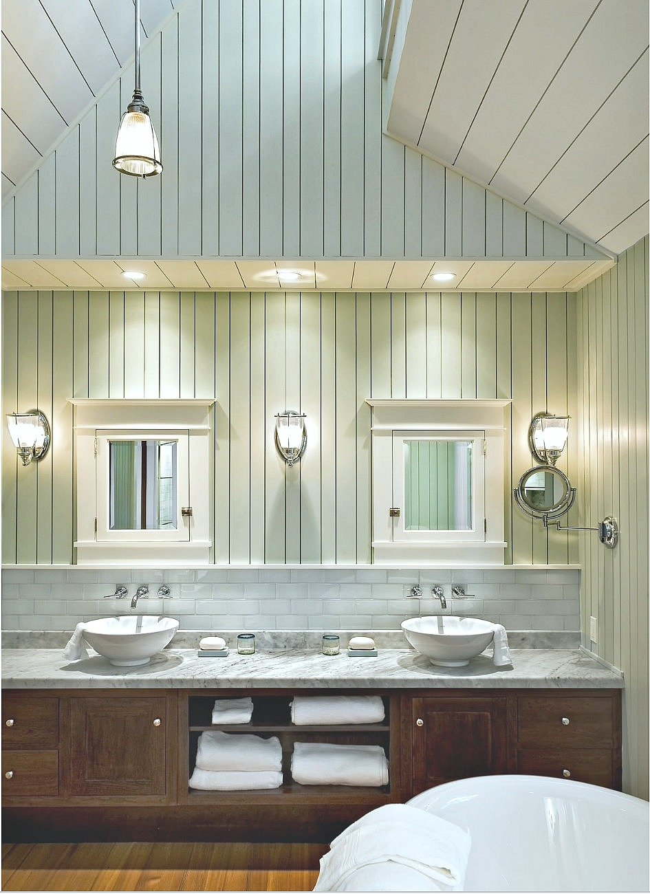 Wall color is Sherwin Williams Sea Salt