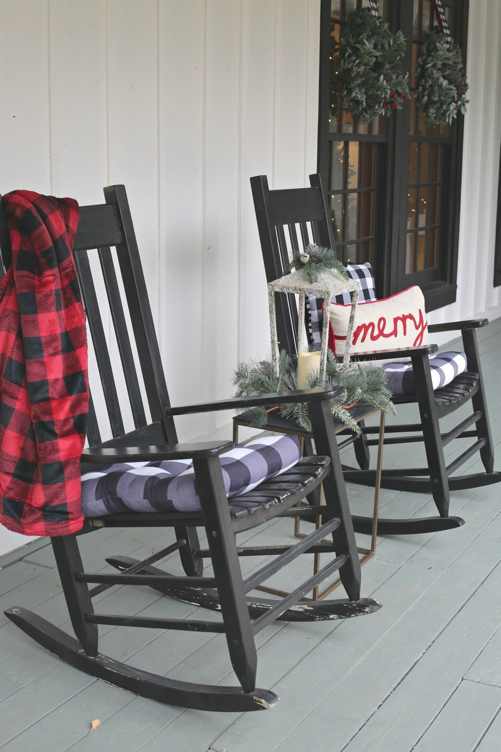 Christmas Porch Rocking Chairs
