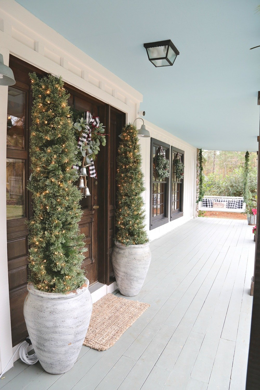 Modern Farmhouse Christmas Porch