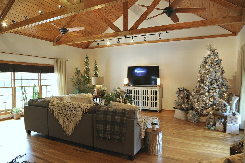 Modern farmhouse Christmas Home Tour Living Room