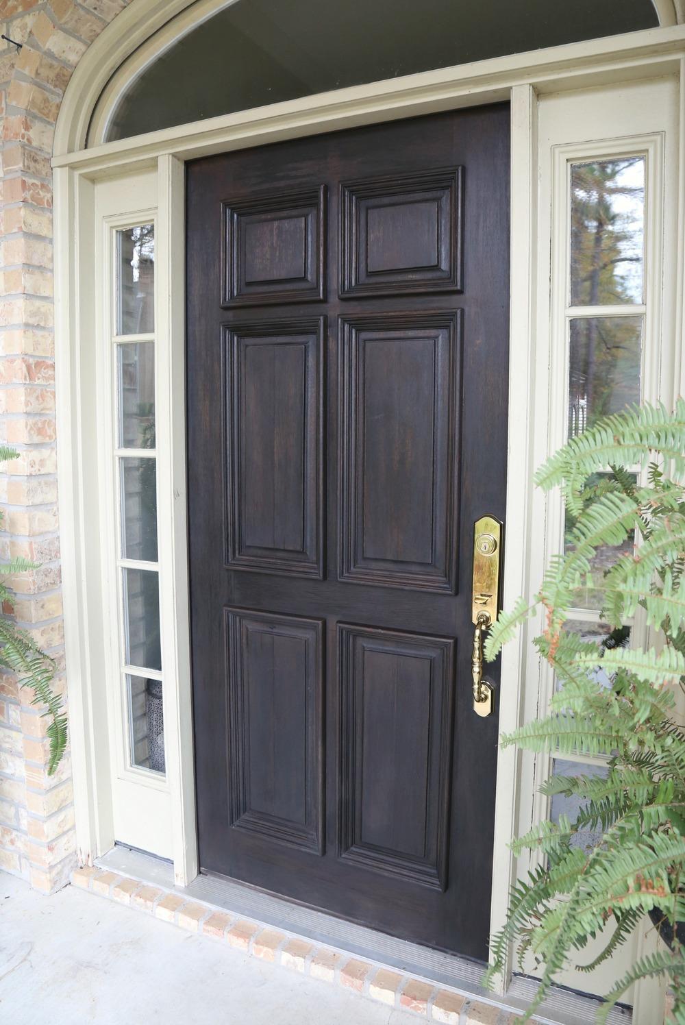 Restoring a wood front door