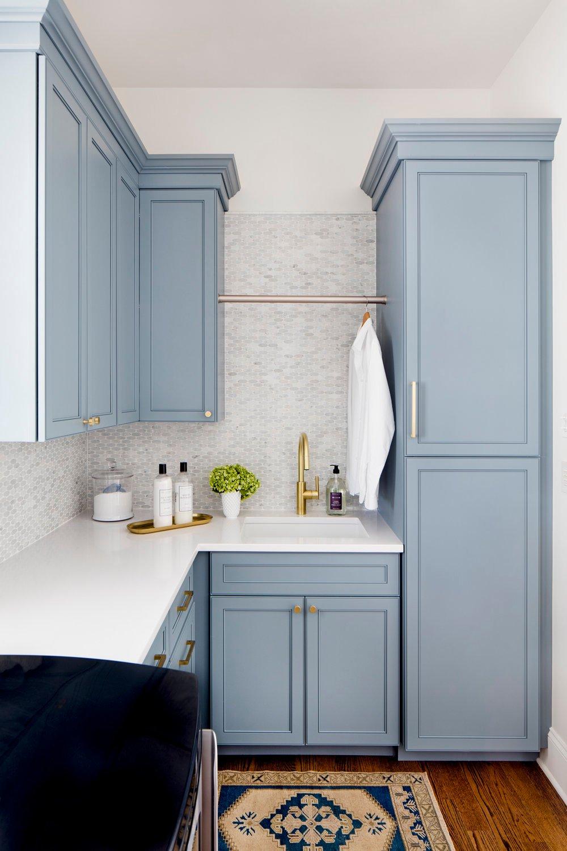Cabinet Color is Benjamin Moore Van Courtland Blue. Stephanie Gamble Interiors