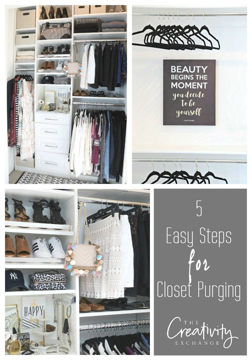 5 Easy Steps to Purge and Organize Your Closet