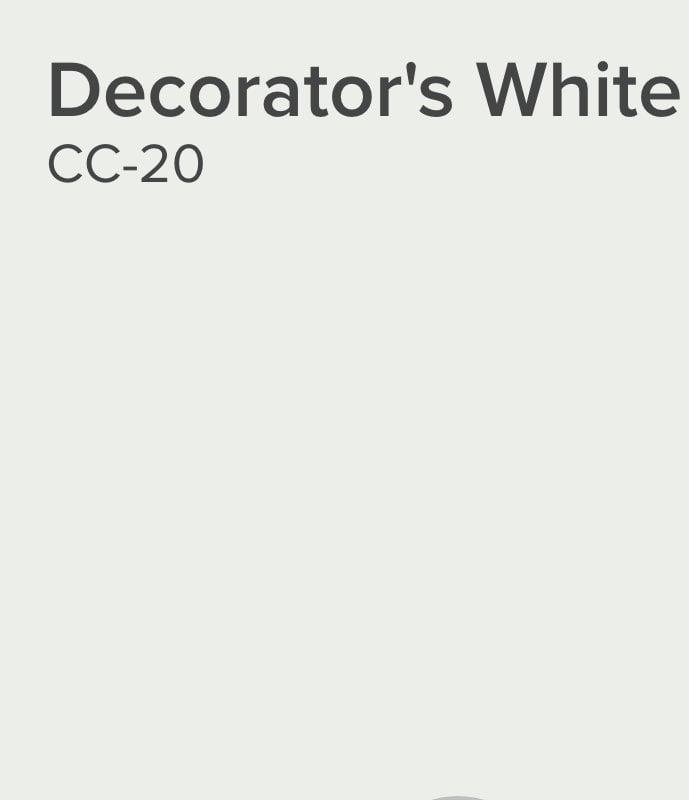 Benjamin Moore Decorators White