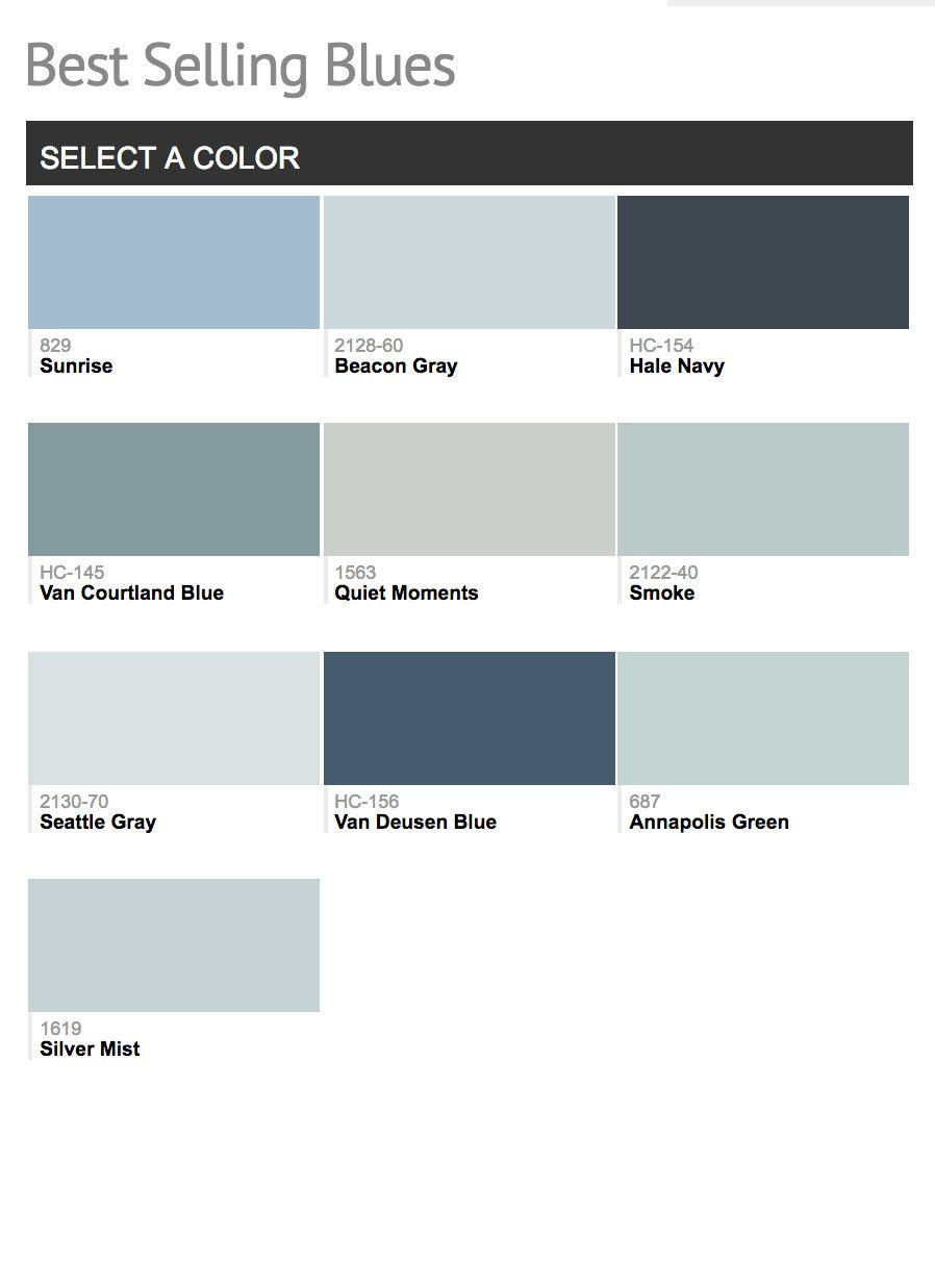 Most Por Benjamin Moore Blues