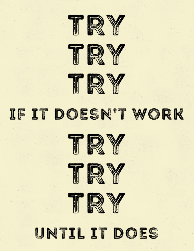 Try Try Try Free Printable