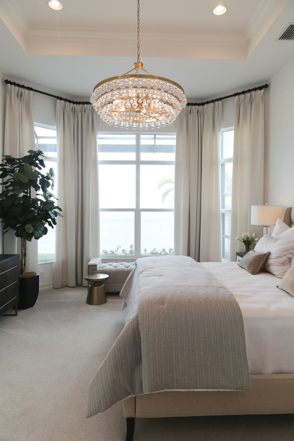 Light and airy bedroom design. Naples Parade of Homes