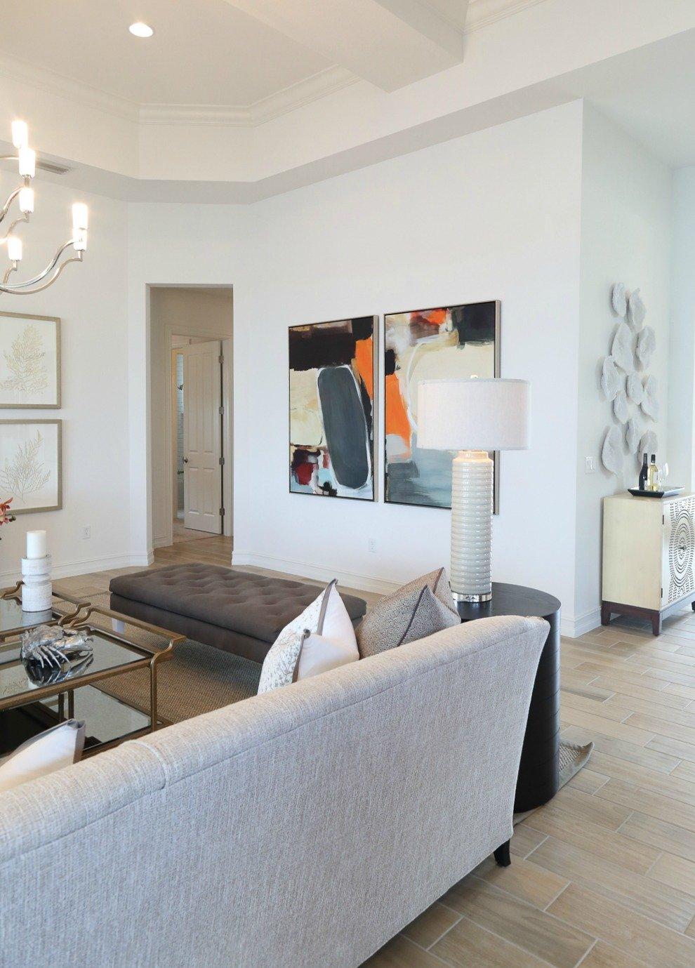 Living room design. Naples Parade of Homes