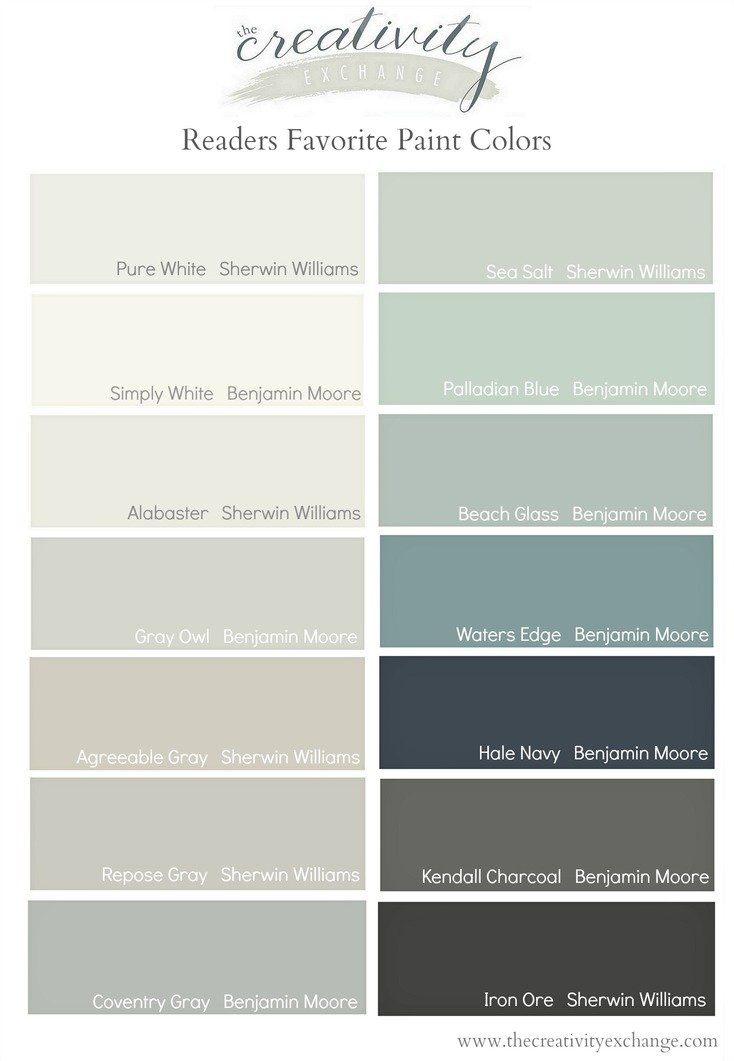Readers Favorite Paint Colors The Creativity Exchange