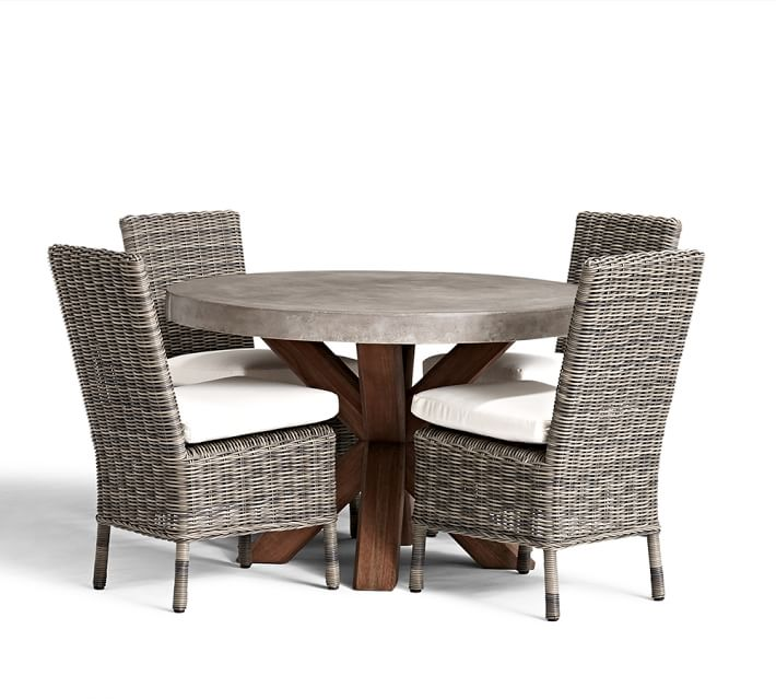 Abbott Outdoor Table and Chairs Set from Pottery Barn