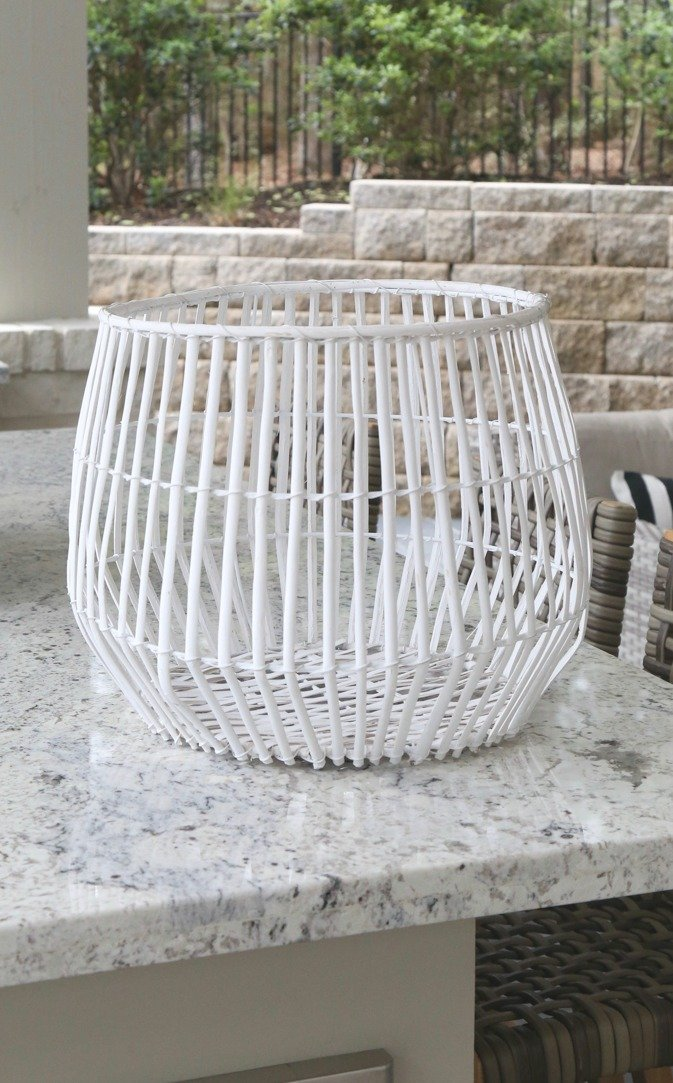 Basket before spray painting