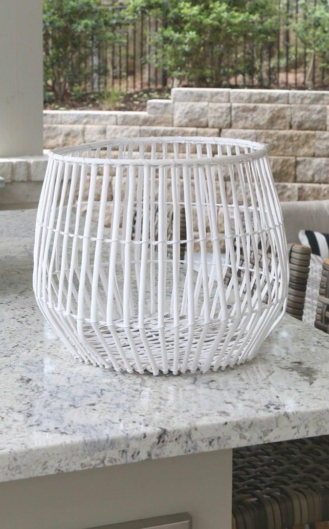 Basket before spray painting