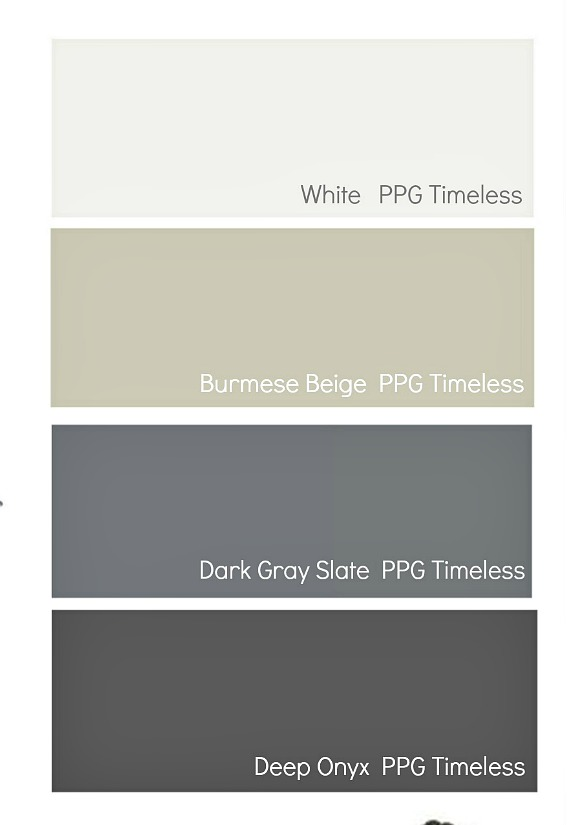 Choosing colors for outdoor areas.