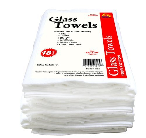Lint-free towels for cleaning glass or wiping off stain