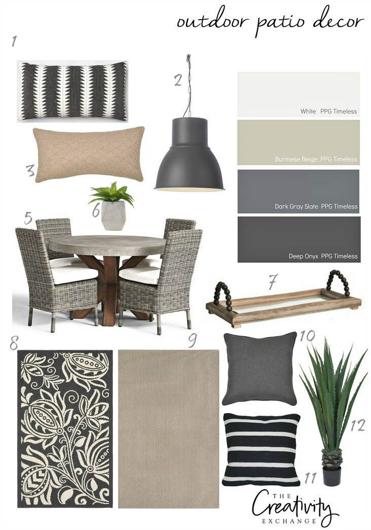 Outdoor patio decor and accessories. Moody Monday
