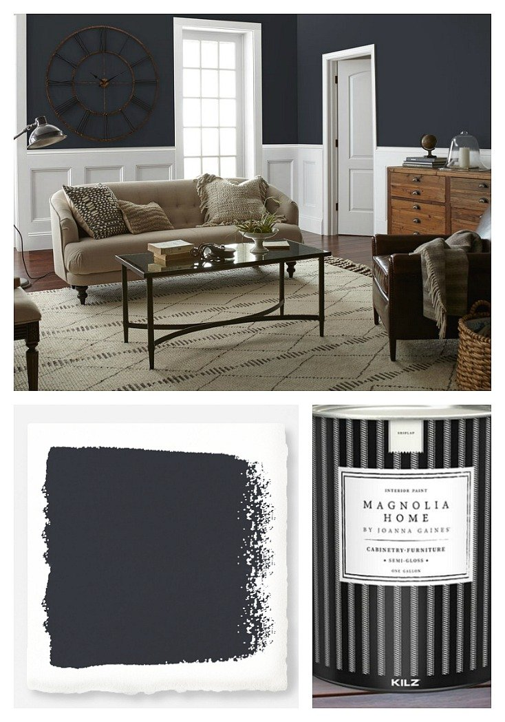 Wall color is Blackboard from Magnolia Home Paint by Joanna Gaines