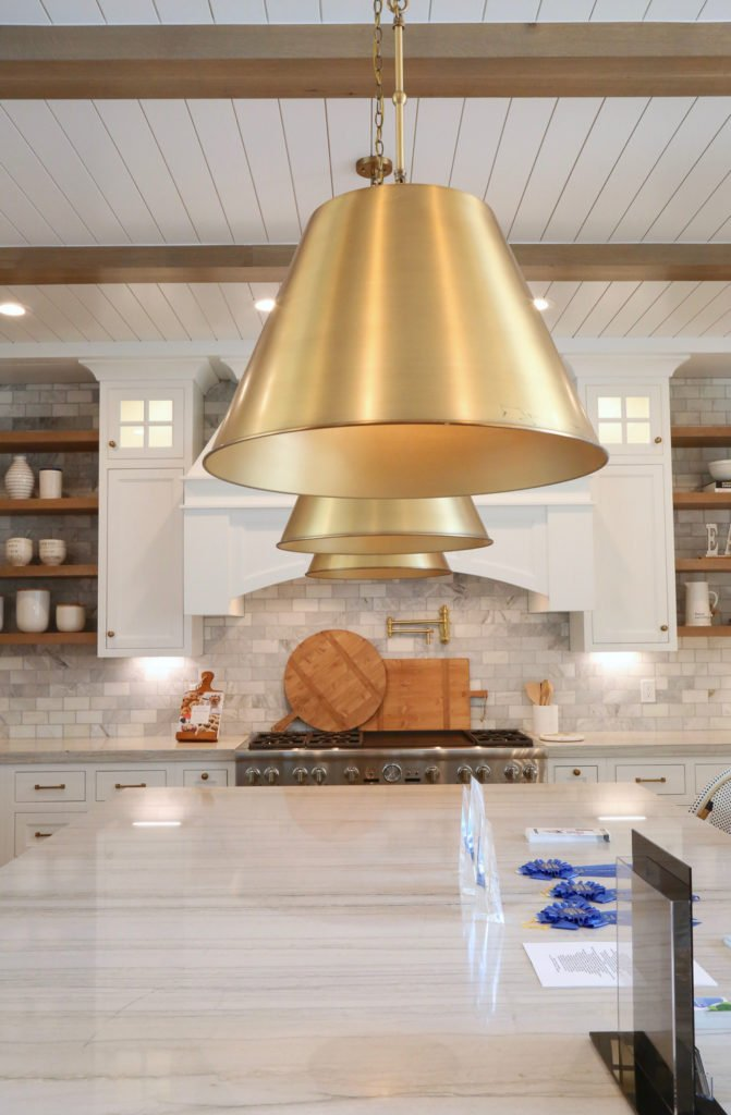 Gold color pendant light
