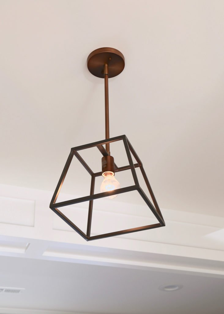 Copper finish foyer pendant