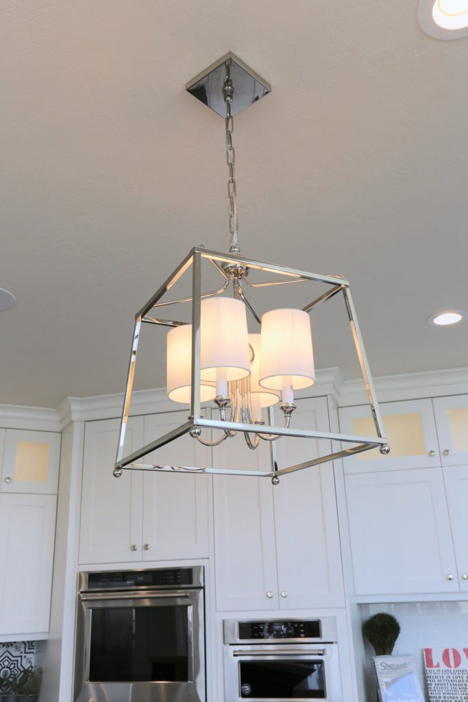 Four light chandelier