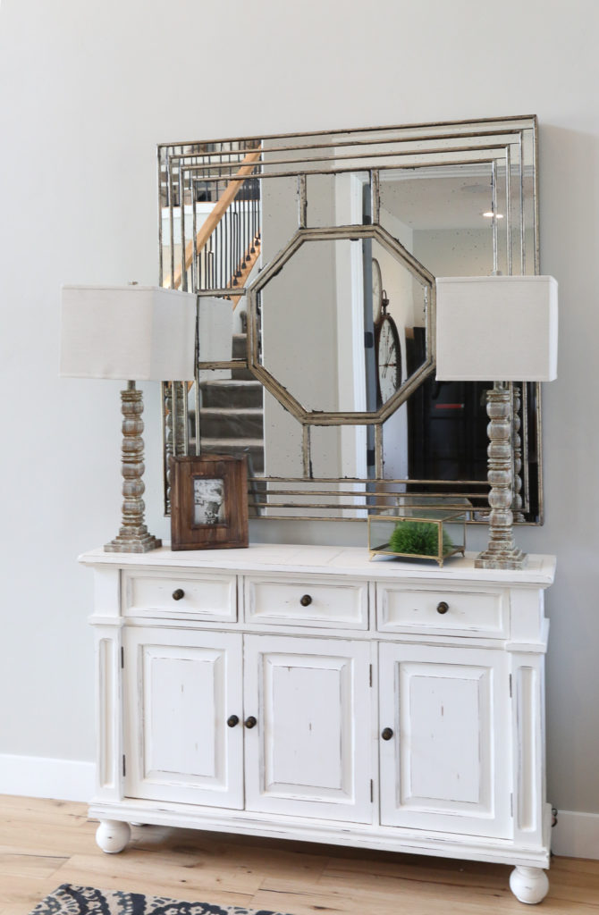 White console sideboard