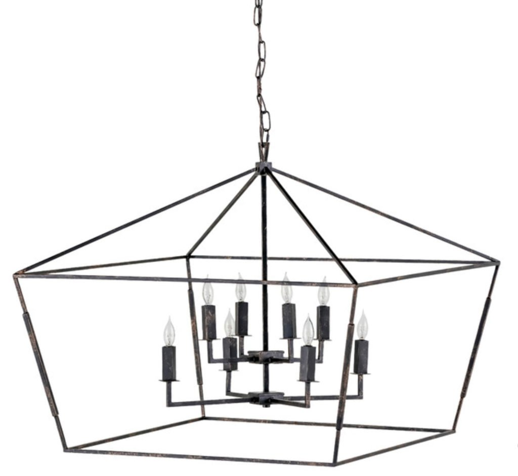 8-Light Chandelier Bronze
