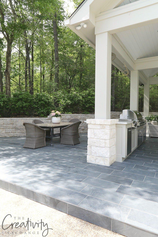 Black Slate Outdoor Tile Patio