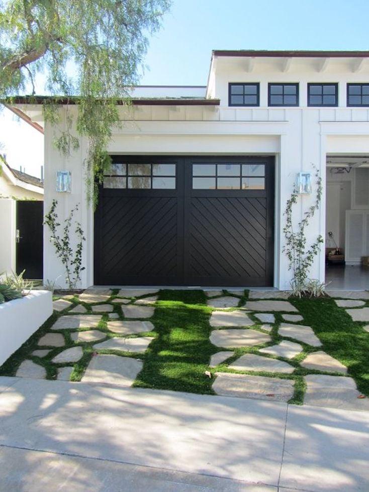 Bold Black Garage Door