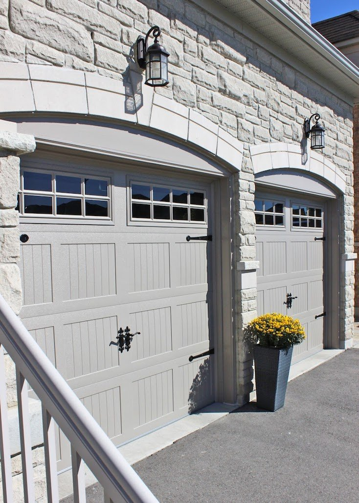 C.H.I. Carriage House Doors in Sandstone