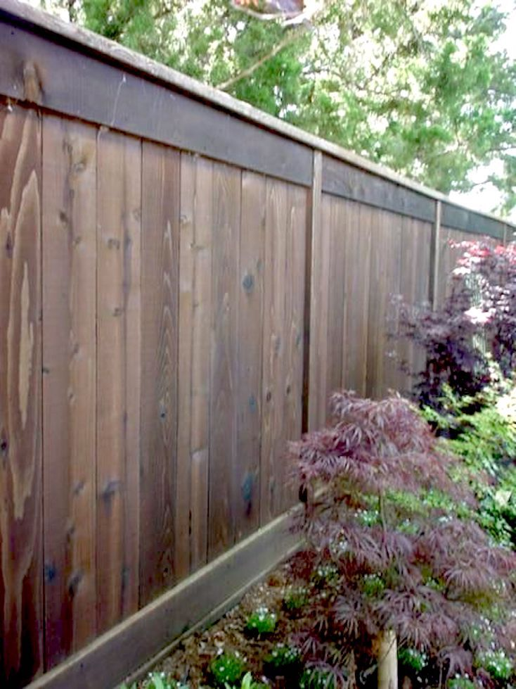 Mid-Century Modern Wood Fence