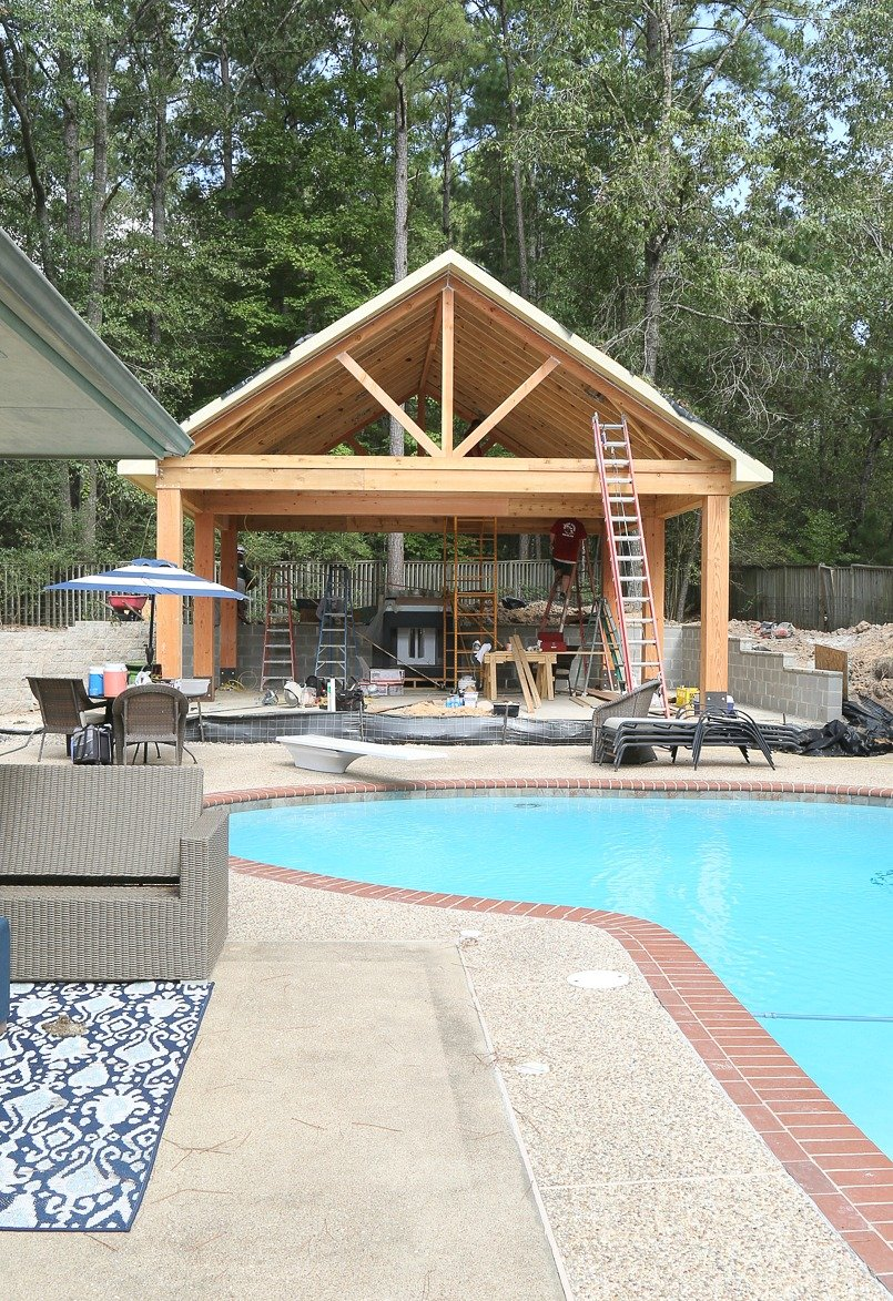 Outdoor Kitchen And Pool House Construction