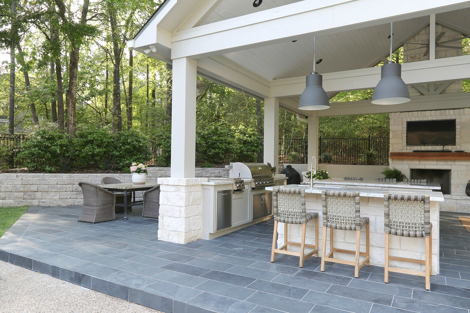 Outdoor Kitchen and Pool House Project Reveal on Outdoor Kitchen With Pool Ideas id=95145