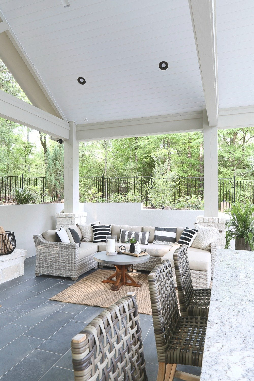 Pool House and Patio Furniture and Decor
