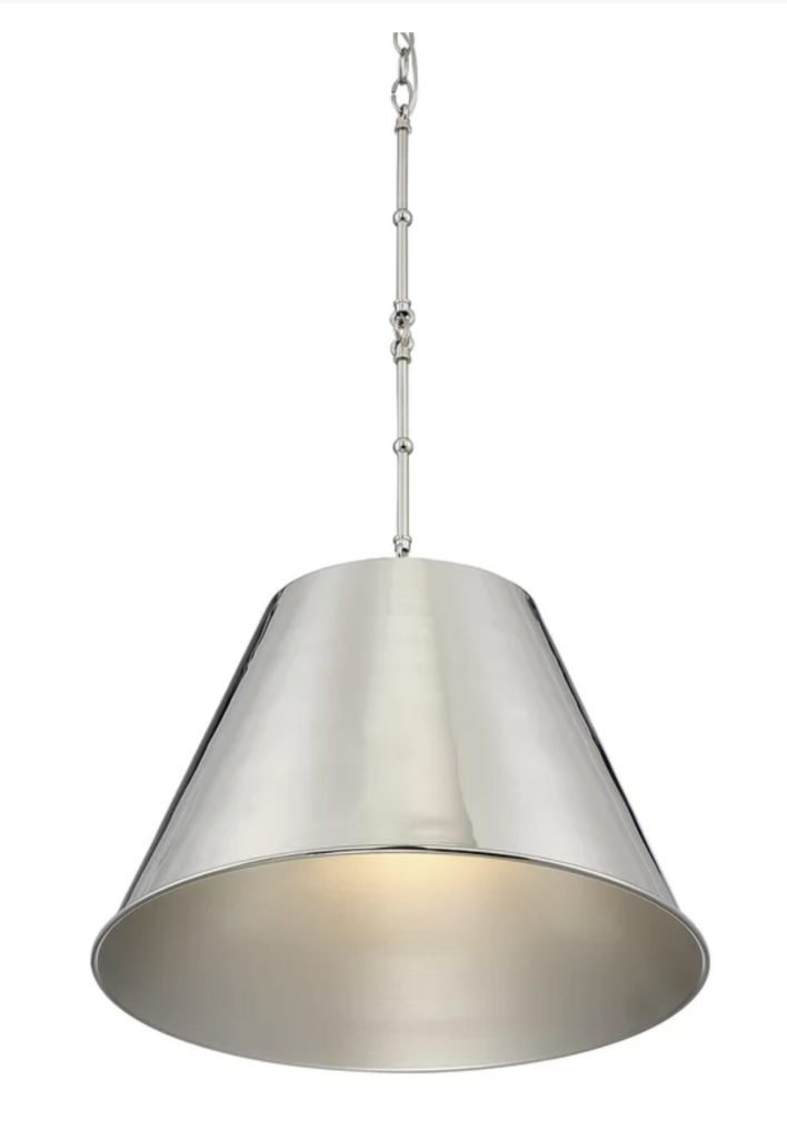 Silver metal pendant light