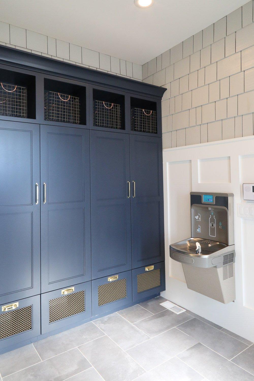 Closet cabinet mudroom