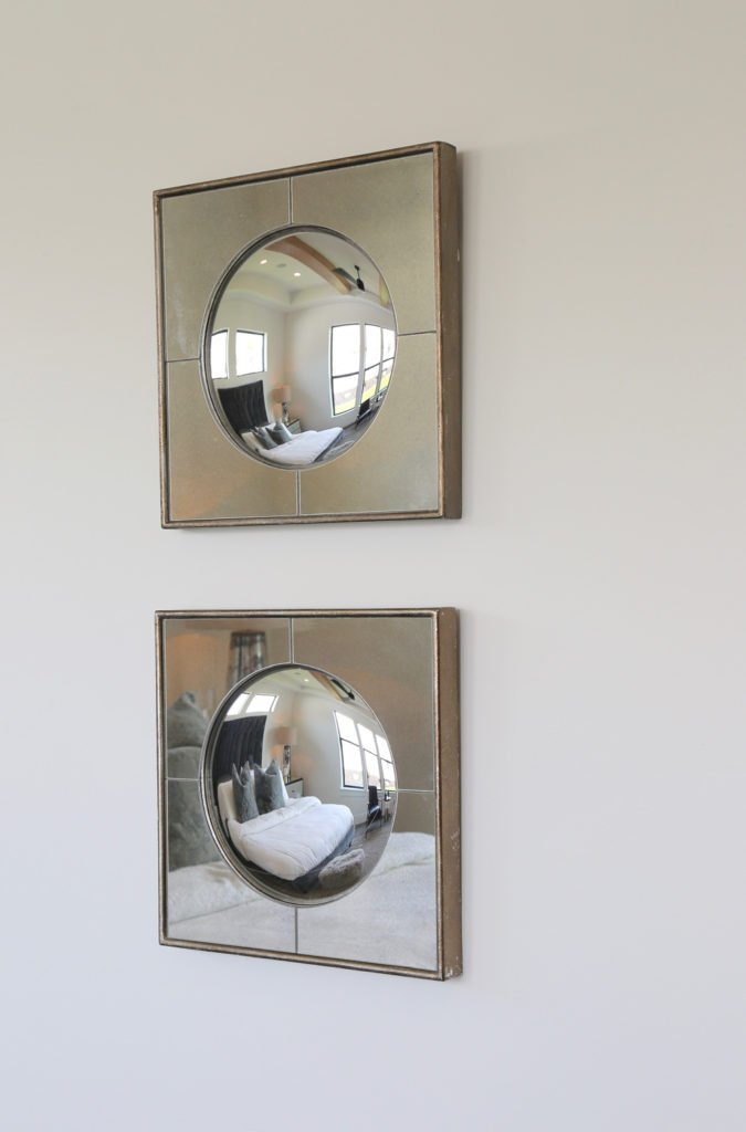 Square frame convex mirror