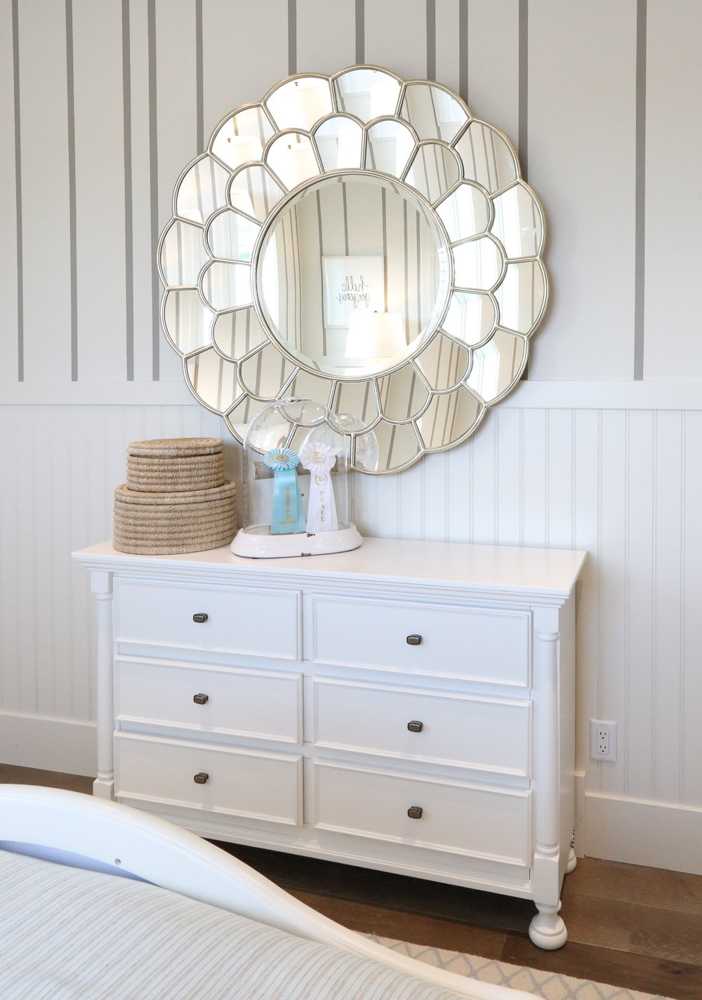 Large floral mirror