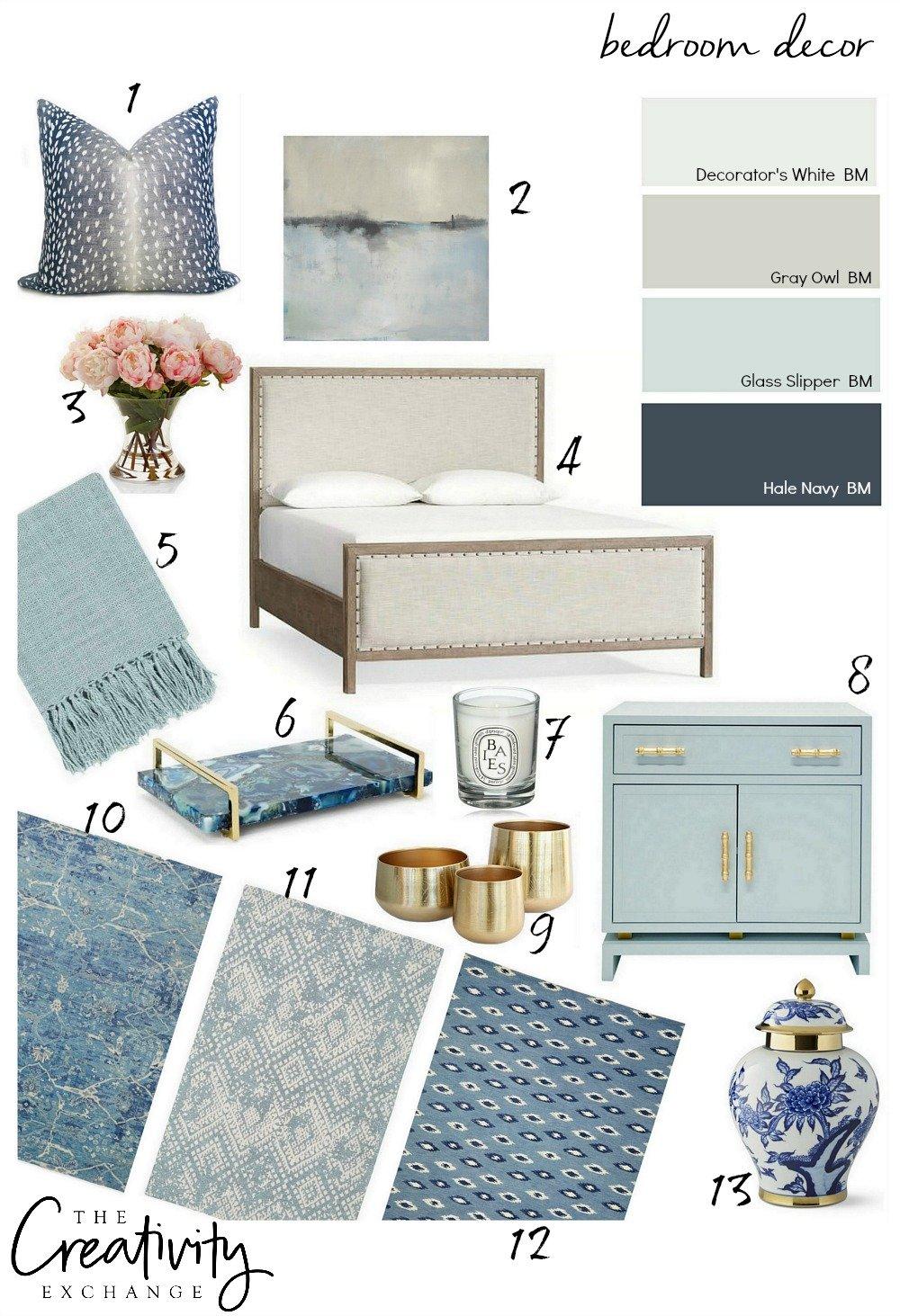 Beautiful bedroom decor ideas. Design board