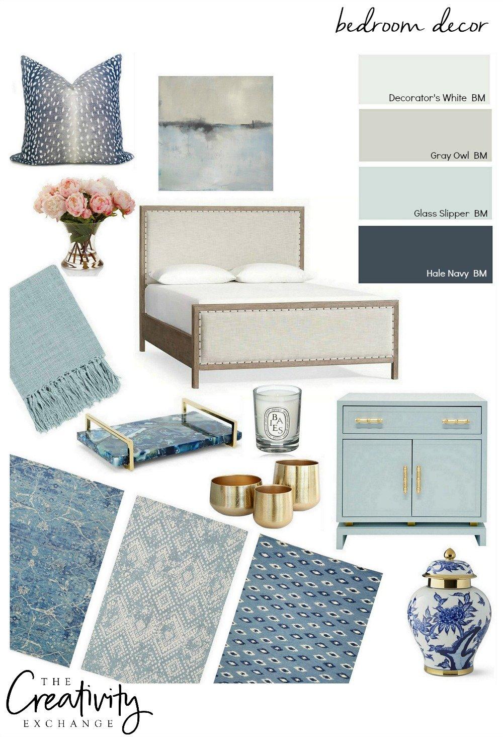 Bedroom Decor Ideas with Design Board