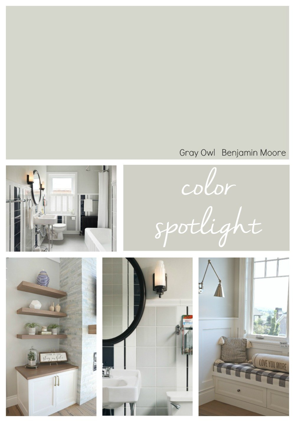Strange Benjamin Moore Gray Owl Color Spotlight Interior Design Ideas Inamawefileorg