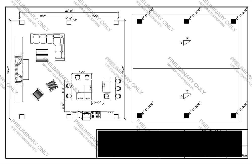 Outdoor kitchen design plan