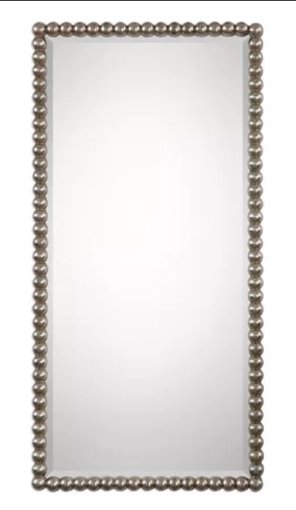 Rectangular Beaded Mirror Panel