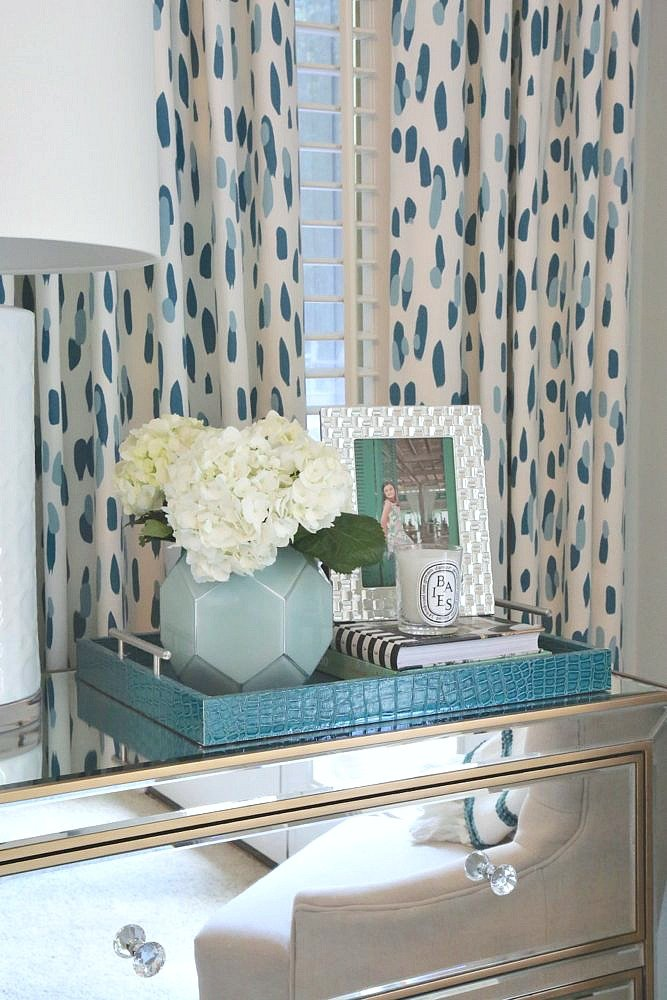 Using trays on nightstands and dressers
