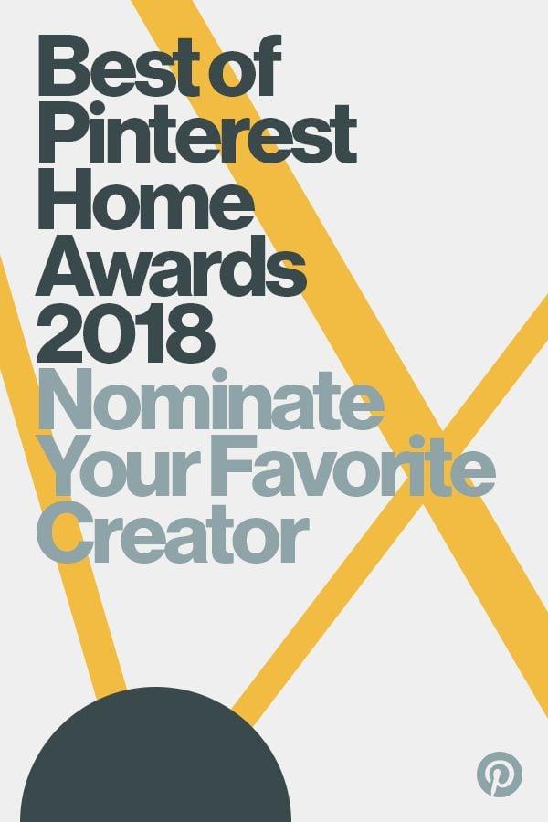 2018 Best of Pinterest Home Awards